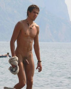 All Natural Male: Hot and Uncut at the Beach!
