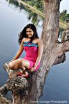 SL Hot Actress Pics: Ameesha Kavindi river side