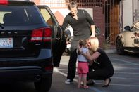 Gleb Savchenko is picked up by his wife and daugher after rehearsals