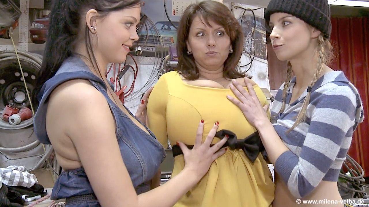 Garage Trouble Big Tits Lesbian