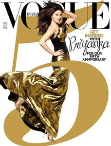 Priyanka Chopra on VOGUE Magazine 5th Anniversary Issue Cover