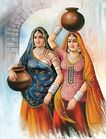 Photos Wall: Beautiful indian women paintings