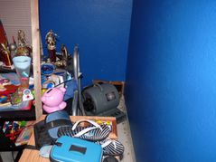 DS #2′s room. Note the back corner another hole in the wall. The