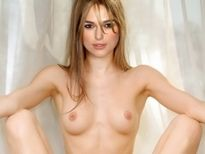 Keira Knightley young nude spread legs show shaved pussy labia