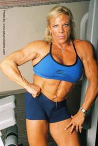 Bentot Strong Woman: Muscular Woman - Lauren Powers, American actress