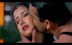 Manisha Koirala in a Hot Wet Red Saree Enjoyed by Sanju Baba