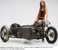 MOTORCYCLE 74: Custom sidecar motorcycles & pin up's