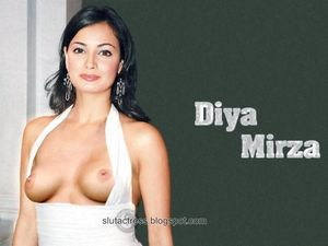 Slut Actress: Diya Mirza Milky Boobs