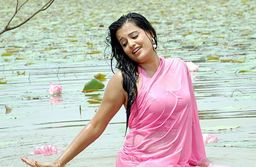 Picmusiq Roopa Hot Navel Show Pics In Pink Saree
