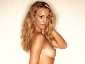 Kaley Cuoco nude for PETA UHQ | boobs girl 2013