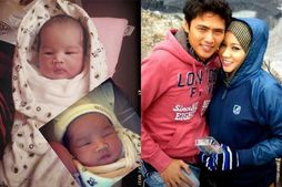bayi perempuannya yang diberi nama Maryam Joanna dilaporkan jatuh