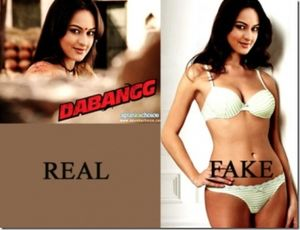 Sonakshi Sinha Fake Bikini Pic | Photo Canvas
