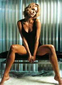 most searched celebrity: Tricia Helfer sexy see through nipple visible