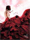 vestido vermelho.