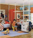 For the tweens that share a room  Great way to divide your space with
