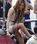 Miley Cyrus Upskirt No Panties Picture