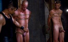 performing males: Two lads stripped, tied and enjoyed