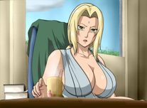 Tsunade is the fifth HOKAGE(village leader as a supreme shinobi) in