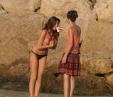 Celebrity Fashion Styles: Lisa Snowdon Topless on the beach
