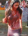 Indian Actress and Models playing holi in wet clothes and full of