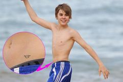 Justin Bieber Shows Off Tattoo