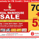 Hush Puppies Annual Warehouse Sale: Up to 70% + 5% OFF!