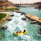 Sungai Buatan Di Taman Tema Air Di Tengah Padang Pasir Di Abu Dhabi