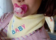 sweet adult baby neckerchief for the fashionable child in front in