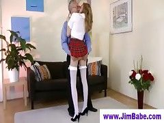 Blonde Nurse Plays With Anal Butt Plug In Her