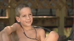 PHOTO: Nineyearold Alex Reamer lives at a nudist colony