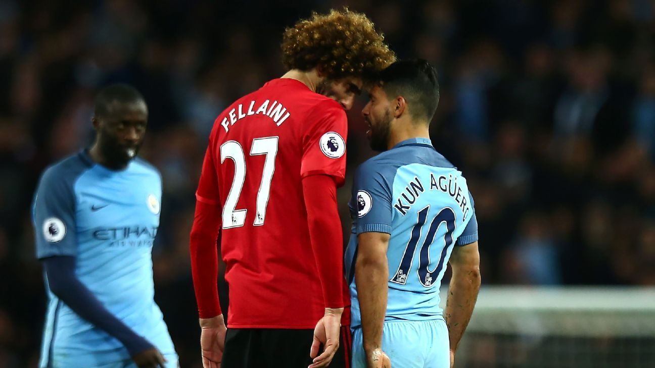 Sergio Aguero made most of head-butt to get Fellaini sent off - Jose Mourinho - ESPN FC