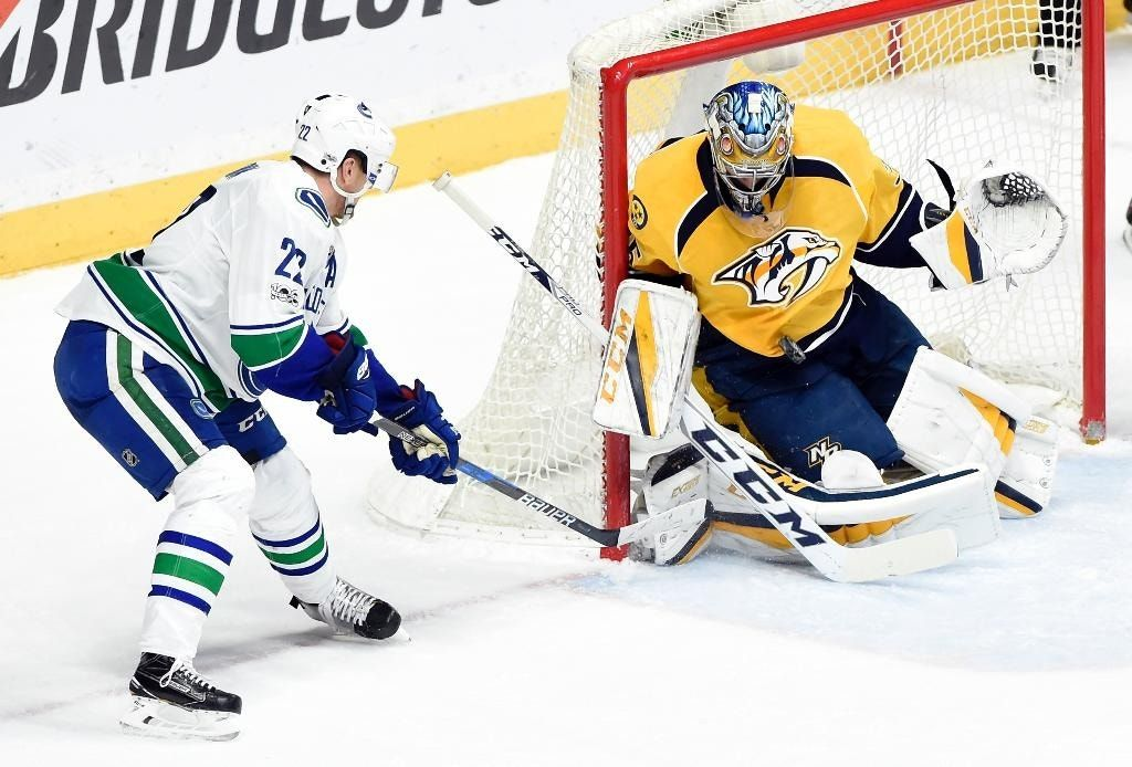 Jarnkrok's OT winner leads Predators over Canucks, 2-1