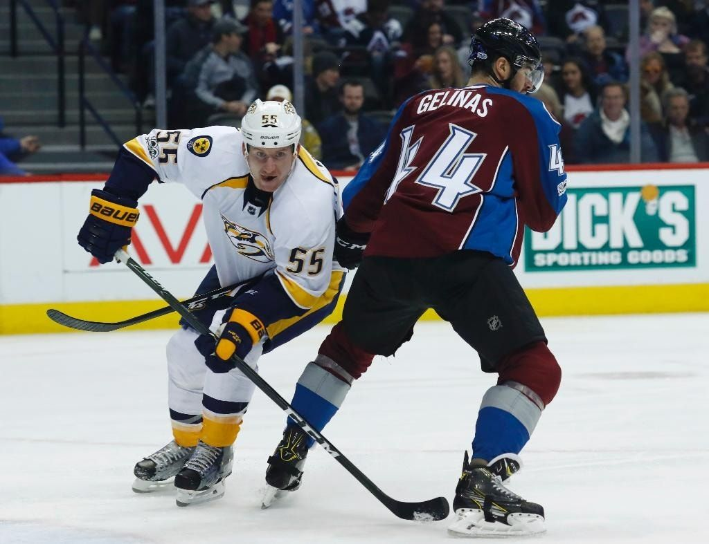 Forsberg, McLeod help Predators rally for 3-2 win over Avs