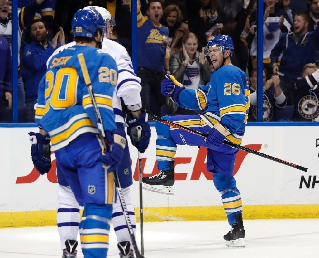 Stastny, Allen lead Blues to 5-1 win over Maple Leafs