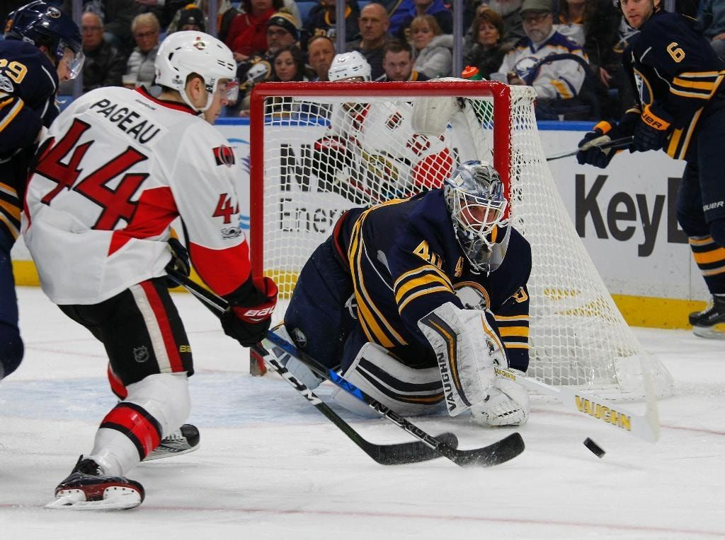 Lehner makes 37 saves in Sabres' 4-0 win over Senators