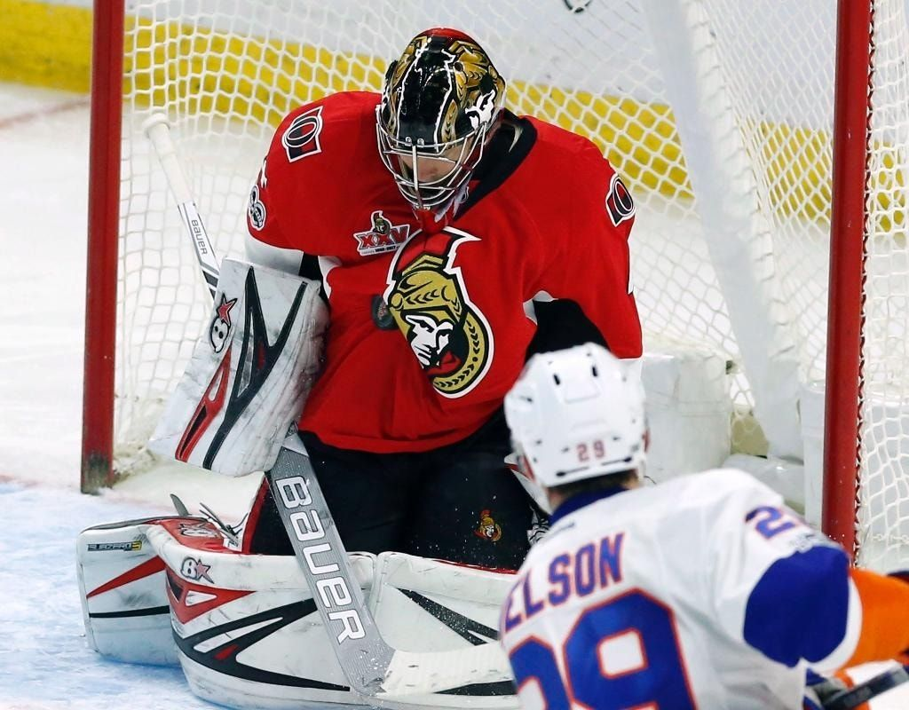 Anderson has 33-save shutout in return to Senators lineup