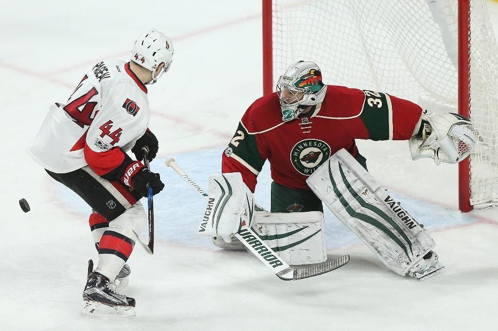 Stalock beats Senators for first win with Wild