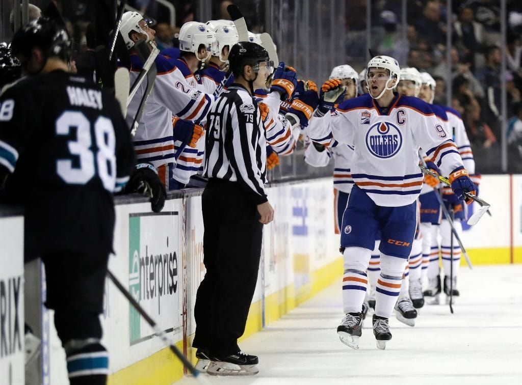 Lucic's hat trick leads Oilers past Sharks 4-2