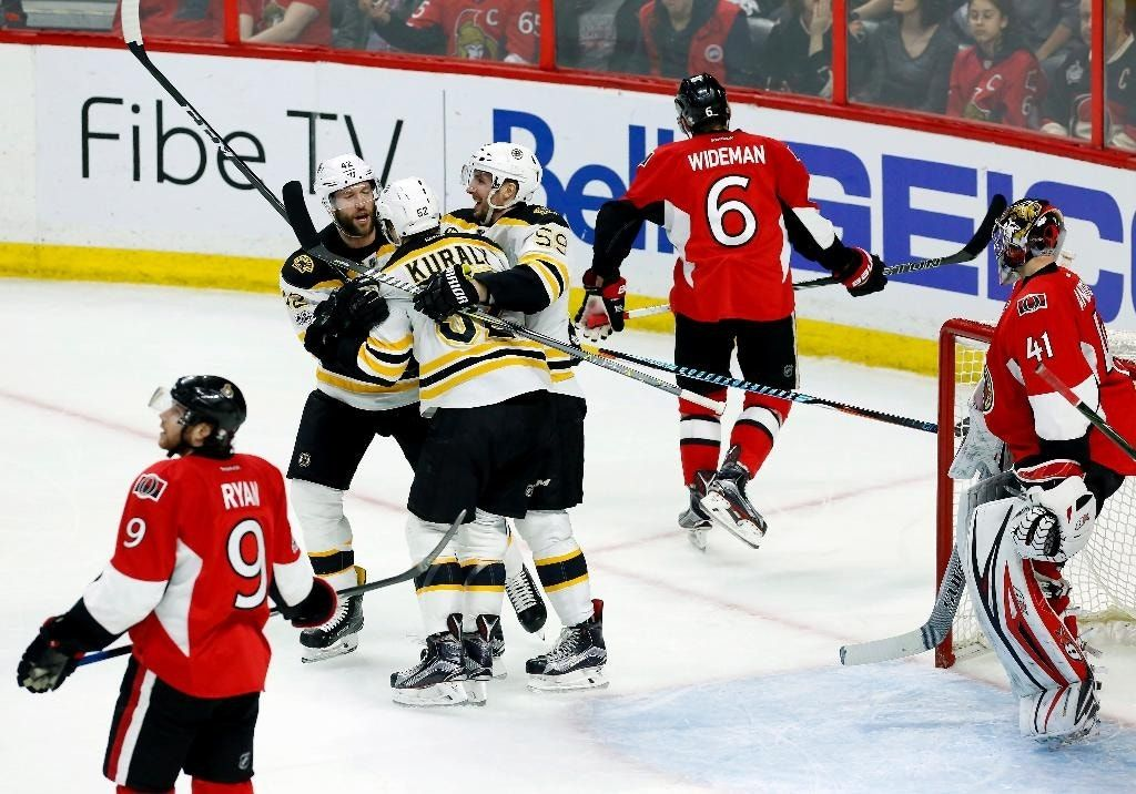 Kuraly's 2nd goal of game lifts Bruins past Senators in 2OT