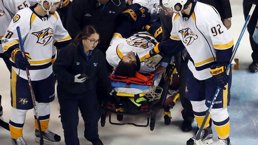 Predators forward Kevin Fiala fractures femur, out for playoffs