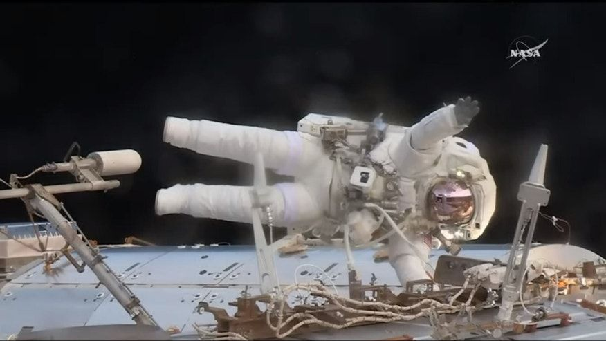 Astronauts restore space station to full health in quick repair spacewalk