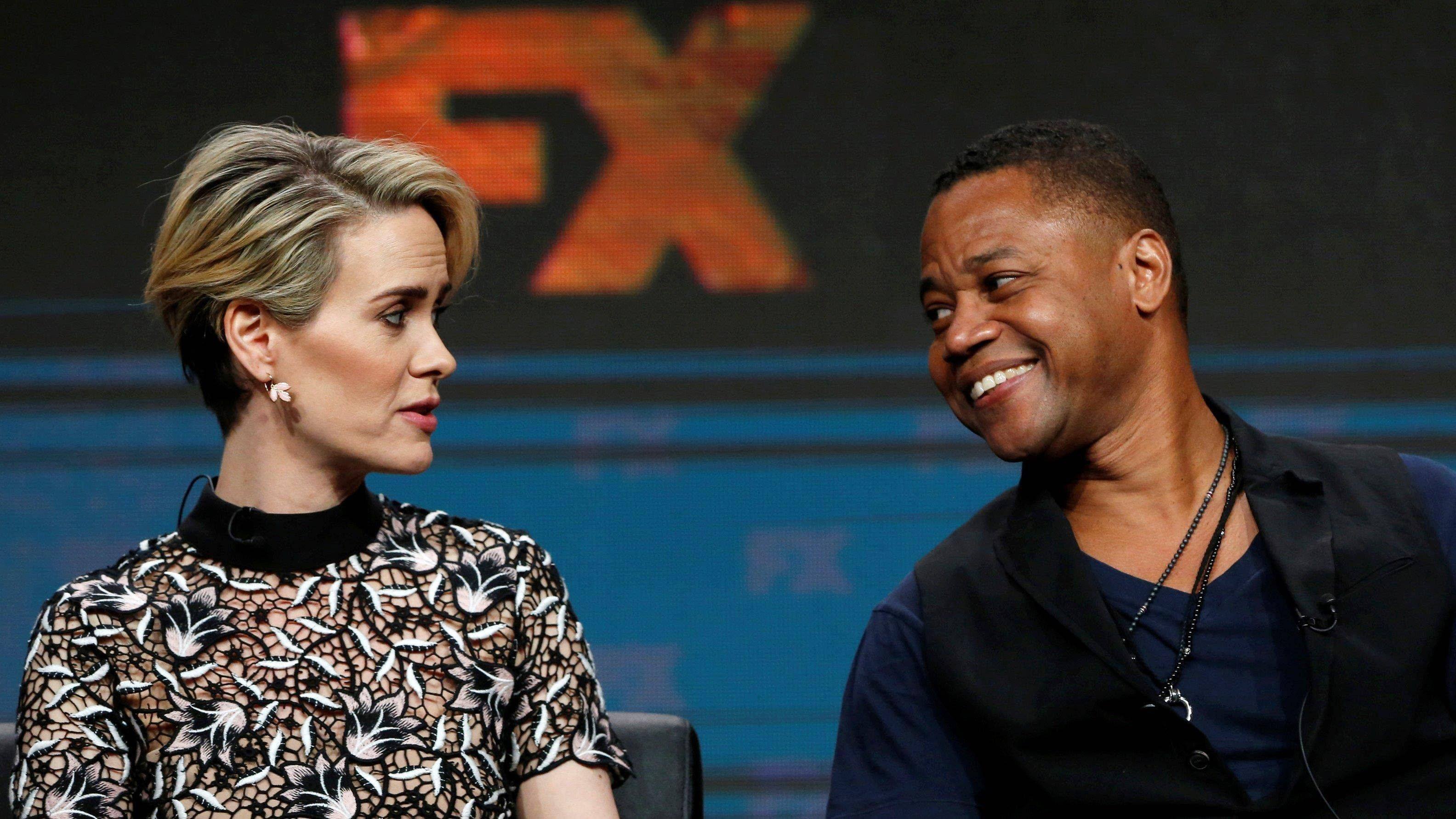 Cuba Gooding Jr. reacts to Sarah Paulson skirt-lift outrage