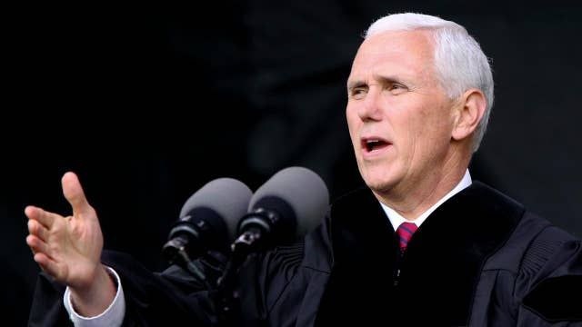 Pence to grads: If you aspire to lead, you'll need courage