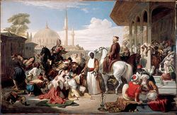 The Slave Market, Constantinople (1838) by William Allan,National