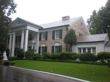 Elvis's Graceland mansion, just outside Memphis