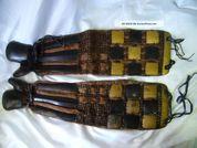 Japanese Samurai Armor Kote Edo Period Chain Lamellar Yoroi Lacquer