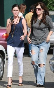 Megan Fox beautiful American actress and model was spotted grabbing