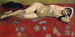 Sleeping Nude On A Red Background  Henri Matisse Paintings Wallpaper