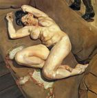 Naked Portrait With Reflection  Lucian Freud Paintings Wallpaper