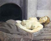Sleeping Nude  Lucian Freud Paintings Wallpaper Image
